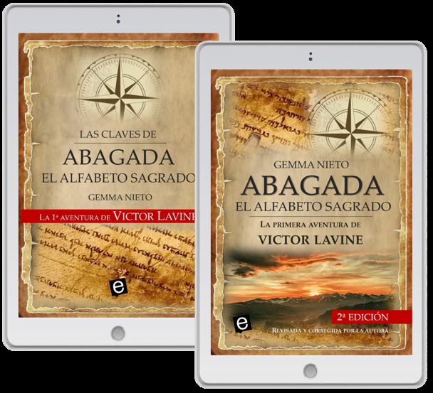 """Regalo de un ebook por adquirir la novela de aventuras de Victor Lavine, """"Abagada, el alfabeto sagrado"""", escrita por Gemma Nieto"""